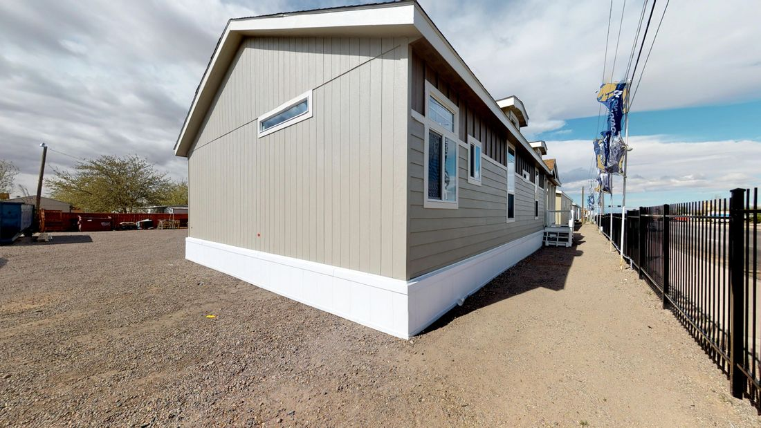 The SUM3068A Exterior. This Manufactured Mobile Home features 3 bedrooms and 2 baths.