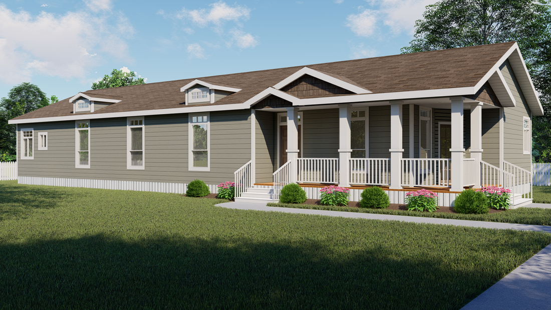 The SUM3076A Exterior. This Manufactured Mobile Home features 4 bedrooms and 2.5 baths.