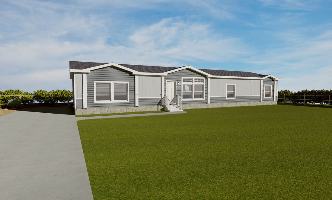 The K3076B Exterior. This Manufactured Mobile Home features 4 bedrooms and 2 baths.