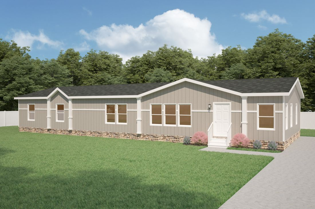 The K3076A Exterior. This Manufactured Mobile Home features 4 bedrooms and 2 baths.