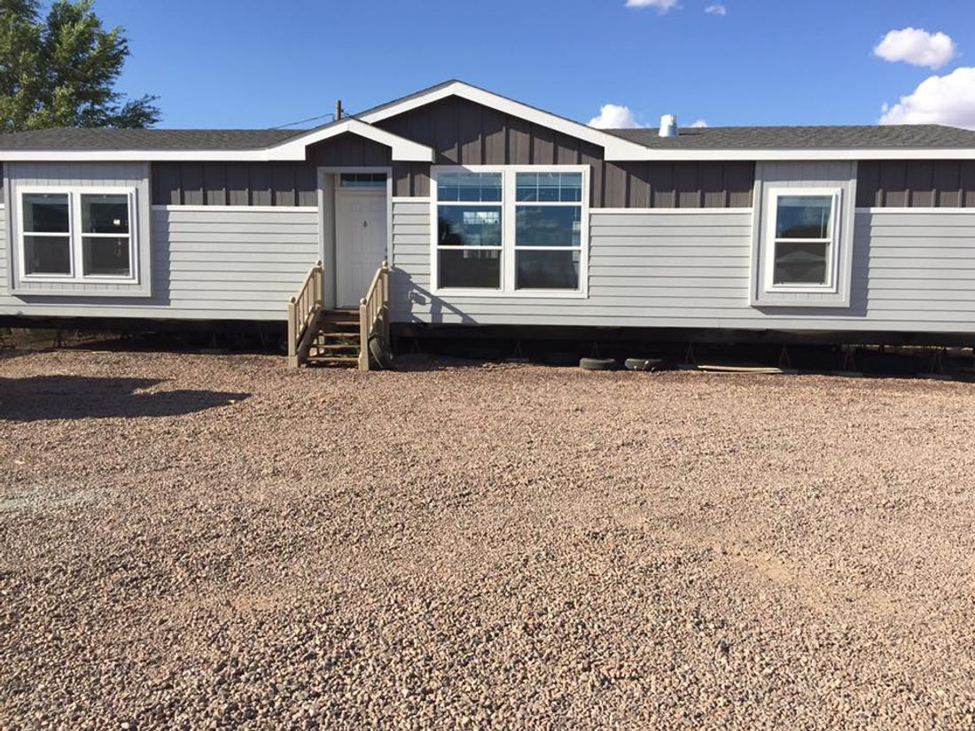 The K2760A Exterior. This Manufactured Mobile Home features 3 bedrooms and 2 baths.