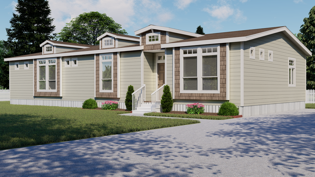 The TRANQUILITY TR3062A Exterior. This Manufactured Mobile Home features 3 bedrooms and 2 baths.