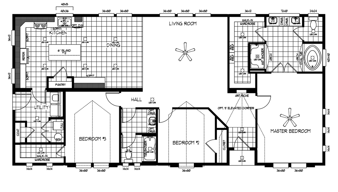 The TRANQUILITY TR3062A Floor Plan