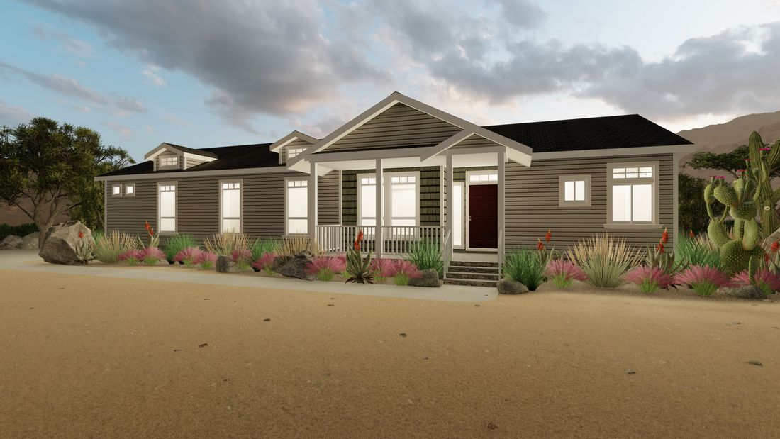 The ENCHANTMENT 3070A Exterior. This Manufactured Mobile Home features 3 bedrooms and 2 baths.