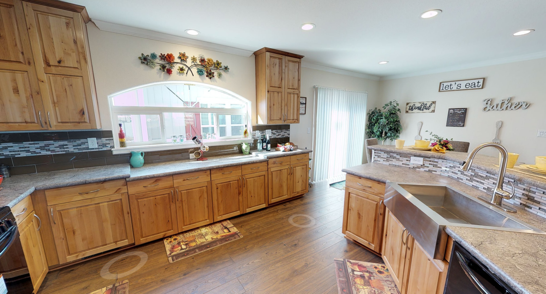The K3066A Kitchen. This Manufactured Mobile Home features 3 bedrooms and 2 baths.