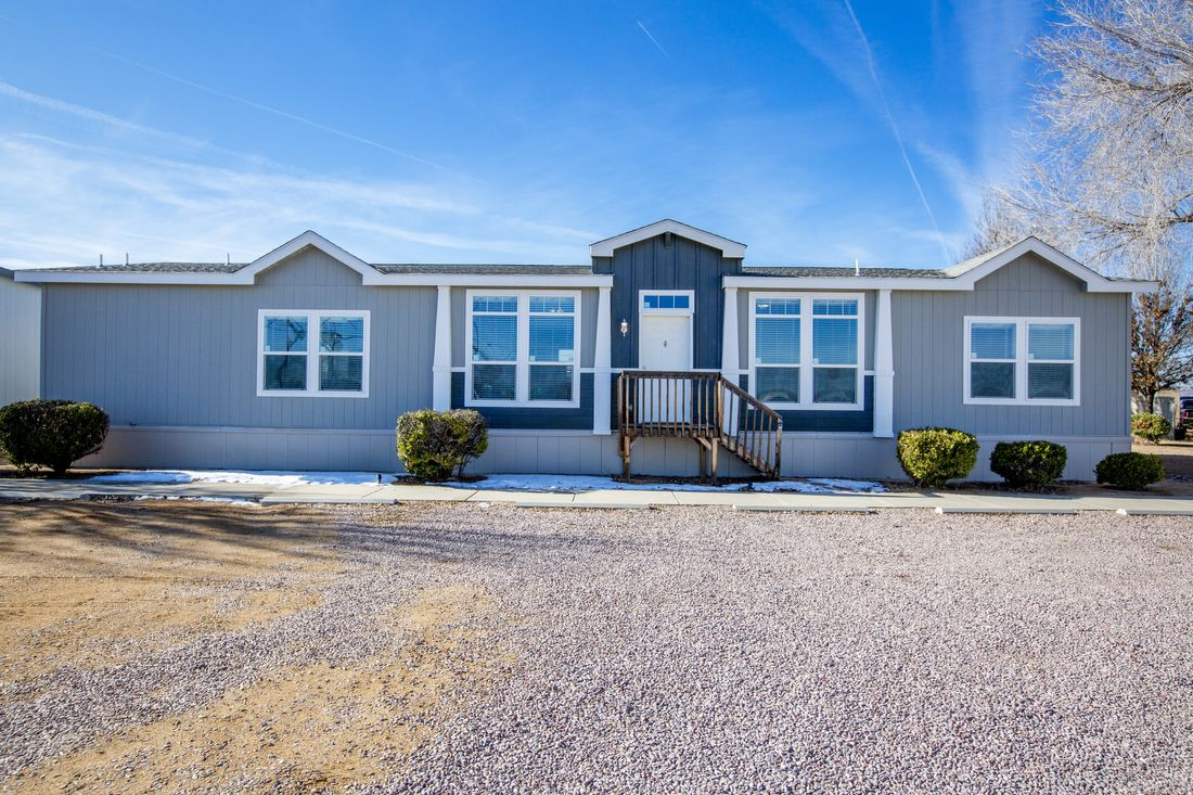The K3068C Exterior. This Manufactured Mobile Home features 3 bedrooms and 2 baths.